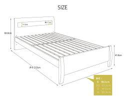 送料無料照明付き棚付きコンセント付きベッドシングルダークブラウンフェンネルLEDピロートップマットレスセットマットレス付きベッドベット高さ調整可能LED照明付き床下収納スペース幅木よけ宮棚付きすのこベッドjyx047sr-da-st01-s