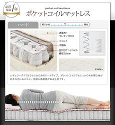 送料無料モダンデザイン・高級レザー大型サイズ収納ベッドSolareソラーレポケットコイルマットレスハード付きクイーン0500019903