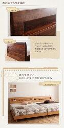 送料無料棚・コンセント付きデザインすのこベッドHaagenハーゲンボンネルコイルマットレス:レギュラー付きセミダブルベッドベットセミダブルベッドベットマット付き棚付きヴィンテージ宮棚コンセント付きすのこベッド一人暮らし木製子供部屋北欧