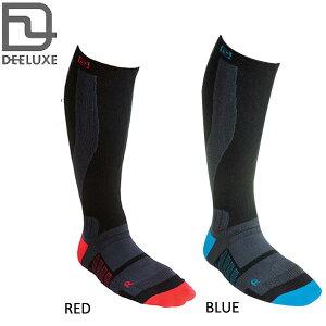 DEELUXE (ディーラックス) THERMO SOCKS EVO サーモソックス エヴォ スキースノーボードソックス  靴下 着圧 22-24cm 24-26cm 26cm-  RED BLUE