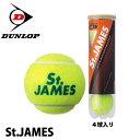 ダンロップスポーツ テニスボール セントジェームス 1缶 4個入り DUNROP SPORTS TENNIS BALL ST.JAMES イエロー - Boom Sports EC店