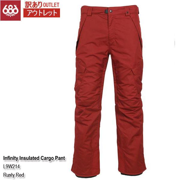 訳あり 19-20 アウトレット パンツ スノーウェア シックスエイトシックス 686 Infinity Insulated Cargo Pant Rusty Red メンズ 男性用 2020