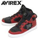 正規取扱店 AVIREX U.S.A.(アビレックス) AV2278 DICTATOR ディクティター バイカーシューズ REDxBLACK