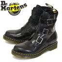 ファッションザセール正規取扱店 Dr.Martens (ドクターマーチン) 13665001 BLAKE ブレイク 3バックル サイドジップ レザーブーツ BLACK
