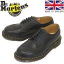 正規取扱店 Dr.Martens (ドクターマーチン) 22853001 VINTAGE 3989 BROGUE SHOE 5EYE ヴィンテージ ブローグ レザーシューズ BLACK イングランド製 1