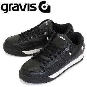正規取扱店 gravis (グラビス) TARMAC DLX ターマック DLX ローカットスニーカー BLACK/WHITE GRV001