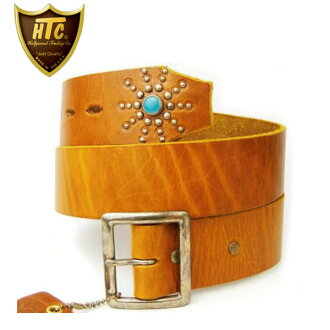 Regular manual HTC ( Hollywood trading Company) TURQUOISE END ONLY BELT (ターコイズエンドオンリー belts) light brown leather fs3gm