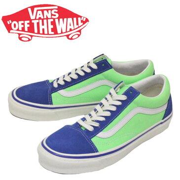 正規取扱店 VANS (ヴァンズ バンズ) VN0A38G2XFJ Old Skool 36 Dx オールドスクール スニーカー (Anaheim Factory) Og Blue/Og Neon Green VN203