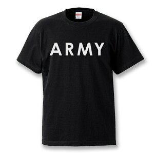 """【1280円ビンテージ柄カレッジプリントTシャツ】当店最安値激安半袖Tシャツclg10""""ARMY"""""""