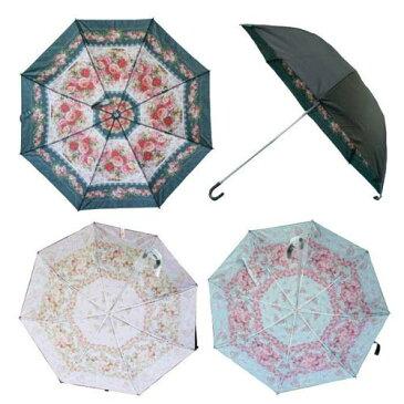 晴雨兼用二重折りたたみ傘 UVカット ANGELIQUE SPICA アンジェリークスピカ おしゃれ 薔薇 ローズ プレゼント
