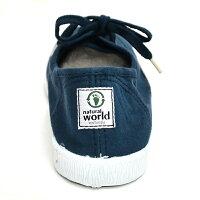 [天然素材のこだわりの靴]naturalworldナチュラルワールドスニーカーカジュアルシューズレディースキャンバスオックスフォードN/WArumeco612あす楽対応_北海道BOS