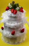 3段おむつケーキ☆いちごケーキ