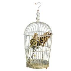 【AYDS1063】□【AL6】ポルテアイアンバードケージ L【鳥かご バードゲージ ディスプレイ イン...