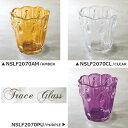 【NSLF2070】□【AR1】トレイスガラス レリーフカップ【ガラス...