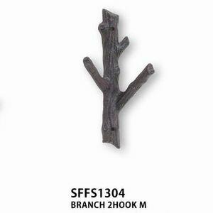 【SFFS1304】□【CR3】BRANCH 2 HOOK M【フック 木型 壁掛け ハンキングフック インテリア】 クリスマス プレゼント
