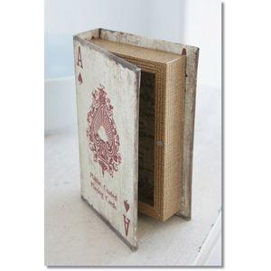 トランプブックボックス【KZ-11】□【CR3】【本型ブック型小物入れ小物いれ収納ケースシークレットボックスレトロアンティーク調古書洋書収納箱ブックボックスコベント】【10P10Jan15】