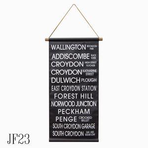ロールサインタペストリーC【JF23】□【K】【バスロールサイン風 タペストリー 壁面装飾 壁掛け...