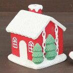 【XBXY3430RD】□【CR1】メルヘンニットHOUSERED【ログハウスディスプレイ置き物】【クリスマスプレゼントギフトサンタ】