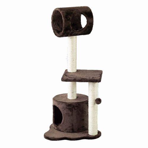 【HMLY4080BR】■PAW-PAW CAT TREE BROWN【猫 ネコ ねこ キャットタワー ハウス トンネル 爪とぎ つめとぎ 遊具 ペット】