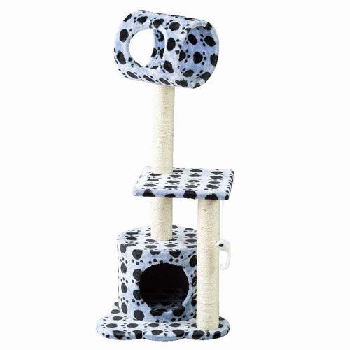 【HMLY4080BL】■PAW-PAW CAT TREE BLUE【猫 ネコ ねこ キャットタワー ハウス トンネル 爪とぎ つめとぎ 遊具 ペット】