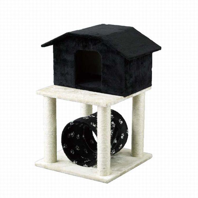 【HMLY4090】■PAW-PAW CAT CONDO【猫 ネコ ねこ キャットタワー ハウス トンネル 爪とぎ つめとぎ 遊具 ペット】