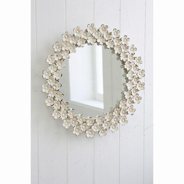 デイジー・ウォールミラー BM-13 □□ CL5 COVENT GARDEN 鏡 かがみ かわいい ウォールミラー 壁掛け 丸型 花 エレガント シンプル おしゃれ シンプル アンティーク調 ディスプレイ コベントガーデン プレゼント