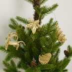 ストローソリディティオーナメントセットREINDEERW/ガラスJAR【106250】□【OR2】【ヒンメリストローオーナメントノルディックXmasXMASX'masクリスマスアレンジオブジェオーナメント北欧飾り装飾デコレーションクリスマス用品志成】