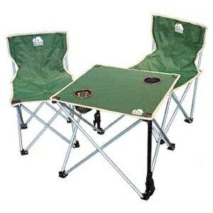 折りたたみチェア&テーブルセット□グリーンブルー組み立て簡単コンパクト収納椅子簡易軽量コンパクトチェアキャンプレジャーフェスBBQバーベキュービーチ海水浴ファミキャンHAC2-0260ハック