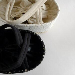 メイズシャンテレースBAG【151686BKWH】□【かごバッグレディースバッグカバンかばん鞄春夏カゴバッグナチュラル志成巾着レース上品】