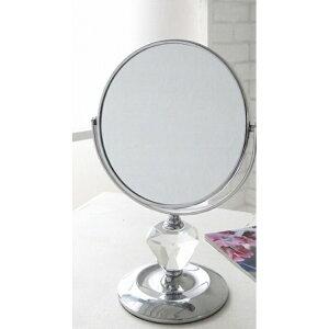クリスタル・メイクミラーL【MX-02】■【コベントガーデン鏡ミラーかがみカガミスタンドタイプ卓上メイク置き鏡化粧鏡立て鏡クリスタル】