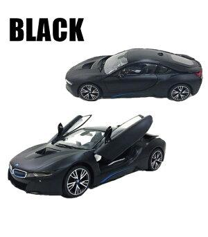 ラジコンBMWi8ブラックホワイト2.4GHz9168□□M1トップエースRC車高級車外車自動車おもちゃ子供フルファンクションドア電動開閉自動誕生日プレゼントバースデー黒白クリスマス(140)