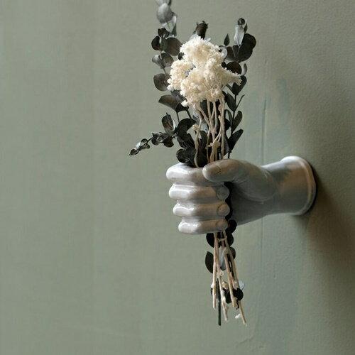AS POTTERY WALL HAND □□ C☆ WVT 手 ハンド 片手 オブジェ 陶器 置物 彫刻 花器 アズポタリー 壁面 壁面インテリア ウォールデコ 壁掛け おしゃれ WEST VILLAGE TOKYO ウエストビレッジ プレゼント ホワイト 白 グリーン 緑