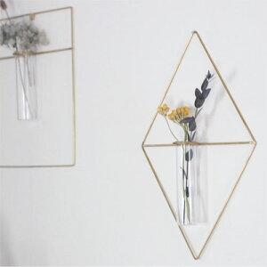 PIKEwallbrassvase□□BL2WVT一輪挿しフラワーベース真鍮花ガラス壁面インテリア壁掛けROUNDDIAMONDRECTおしゃれリビンググリーンガーデンプレゼント
