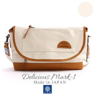 MOUTH Delicious mark-1 ショルダーバッグ マウス デリシャスマーク1 MJS11019 NATURAL 日本製[fs01gm]