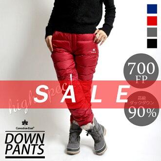 11 월 상순 발매 선행 예약 상품 CanadianEast 아웃 도어 다운 팬츠 등산 산 걸 패션 겨울 여성용 여성용 캐나다 동쪽 CEW3512P