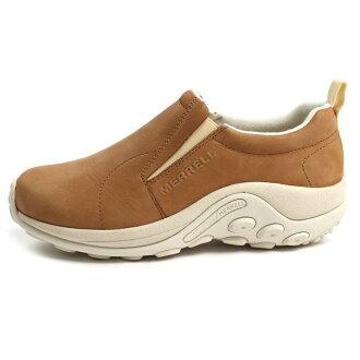 MERRELL Merrell 男式女式滑 MOC NUBACK 叢林叢林 MOC 磨砂咖啡咖啡 M:597879 W:597880 布朗、 皮革、 安慰、 鞋 /Begin s / 日本限量版顏色