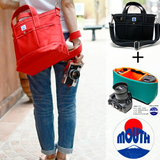 At the end of October in stock leading reservation commodity MOUTH made in Japan camera bag Tote with inner case set SLR mirror-less women's pun lens 2 104 tote bag S size MJT13033 MJC12024