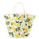 マルシェバッグ・リバーシブル(ラージサイズ) シトラスレモン レモン柄 ボタニカル柄 フルーツ柄 バッグ 北欧デザイン マザーズ バッグ 北欧 おしゃれ