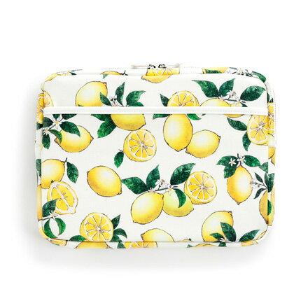 パソコンケース 11.6インチ シトラスレモン レモン柄 ボタニカル柄 フルーツ柄 ノートパソコン インナーケース スリーブケースpc ラミネート かわいい おしゃれ画像