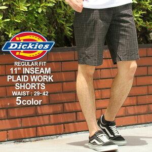 ディッキーズ ハーフパンツ Dickies wr984 ハーフパンツ メンズ ひざ下 チェック柄 チェックショーツ 大きいサイズ メンズ ハーフパンツ (USAモデル)