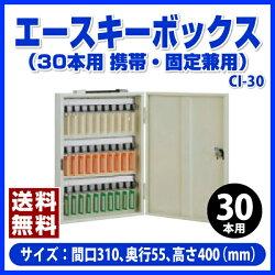 【ポイント2倍】杉田エースのエースキーボックス(30本用)(携帯・固定兼用)アイボリー-CI-30