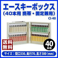 【ポイント2倍】杉田エースのエースキーボックス(40本用)(携帯・固定兼用)アイボリー-CI-40