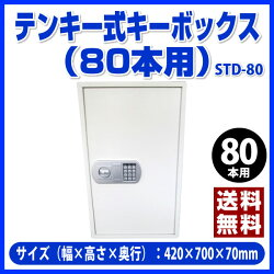 【送料無料/ポイント2倍】TANNER(田辺金属工業)[STD-80]-テンキー式キーボックス(80本用)