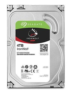 Seagate 内蔵ハードディスク 3.5インチ 4TB 高耐久 NAS サーバー ゲーム 映像編集向け IronWolf NAS ( SATA / 3年保証 ) 正規代理店品 ST4000VN008