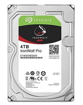 Seagate 内蔵ハードディスク 3.5インチ 4TB IronWolf Pro データ復旧付き NAS / プロ 映像編集 ( SATA / 5年保証 ) 正規代理店品 ST4000NE0025