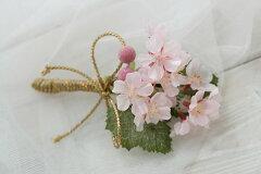 桜のボールブーケ用ブートニア【ウェディング】【RCPnewlife】【マラソン201302_フラワー】