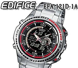 送料無料 カシオ CASIO 腕時計 エディフィス EDIFICE メンズ 多機能デジアナ クオーツ クロノグラフ efa-121d-1a おすすめ 人気 モデル アナログ デジタル アラーム 100m防水