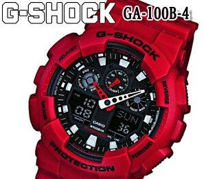 CASIO カシオ G-SHOCK Gショック ジーショック ga-100b-4 メンズ 腕時計 新品 カジュアル ウォッチ アナログ デジタル アナデジ プレゼント ギフト ダイバー ウレタンベルト