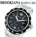【あす楽】【送料無料】[ブルッキアーナ] BROOKIANA メンズ 腕時計 クォーツ ブラック シルバー ステンレス BA0012-BK プレゼント ビジネス ウォッチ アナログ