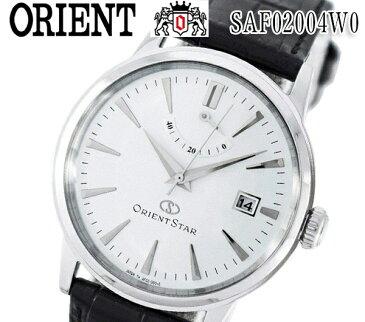【あす楽】【送料無料】 オリエントスター 腕時計 メンズ ORIENT STAR SAF02004W0 自動巻き パワーリザーブ コンテンポラリー レザー ベルト